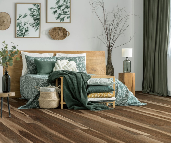 Hardwood Flooring Bedroom Example